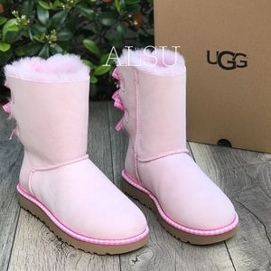 UGG Bailey Bow Gingham Arctic Pink W AUTHENTIC